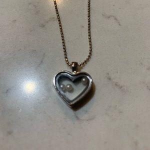 925 Silver Chain w/ Silver Heart Pendant